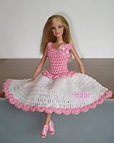 Hračky - Háčkované šatičky pre Barbie - 10665529_