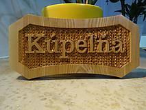 Dekorácie - Dreveny napis Kupelna - 10664993_