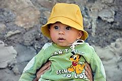 Ľanový klobúčik horčicový