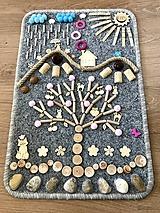 Detské doplnky - Senzomotorický koberček Cat Tree - 10667765_