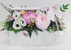 Dekorácie - Kvetinová dekorácia - 10665265_