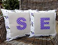 Úžitkový textil - Návlečky na podušky s písmenom - 10664893_