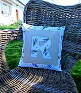 Úžitkový textil - Návlečka na podušku s písmenkom na želanie - 10664971_