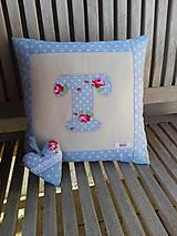 Úžitkový textil - Modrá pre dievčatko:), ... obliečka na vankúš - 10664985_