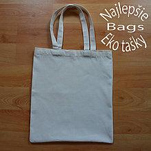 Nákupné tašky - Kvalitná plátená eko nákupná taška, pevná - 10664861_