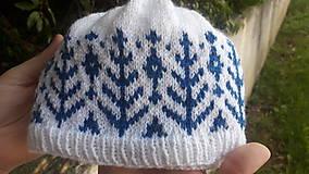 Detské čiapky - Pletená čiapka pre drobca - 10665854_