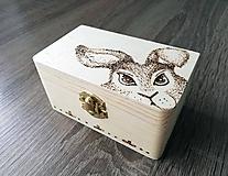 Krabičky - Box z prírodného dreva - Zajko kukajko - 10665905_