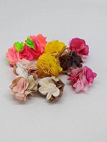 Polotovary - Strapček- gulička kvet - pár - 10666566_