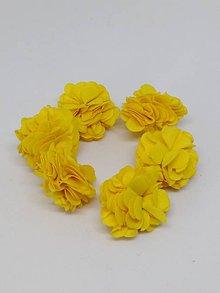 Polotovary - Strapček- gulička kvet - pár (Žltá) - 10666567_