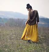 Sukne - Maxi sukně z mušelínu - žlutá puntíčková - 10667774_