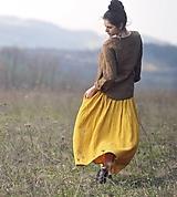 Sukne - Maxi sukně z mušelínu - žlutá puntíčková - 10667777_