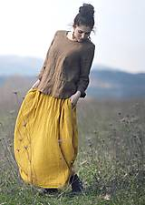 Sukne - Maxi sukně z mušelínu - žlutá puntíčková - 10667779_