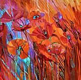 Obrazy - Makové kvetinky - 10667218_