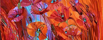 Obrazy - Makové kvetinky - 10667221_