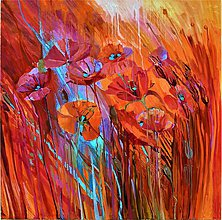 Obrazy - Makové kvetinky - 10667243_