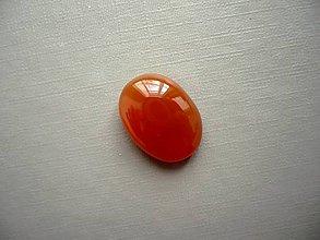 Minerály - Kabošon - achát oranžový 18 mm, č.16f - 10667502_