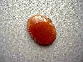 Minerály - Kabošon - achát oranžový 24 mm, č.17f - 10667511_