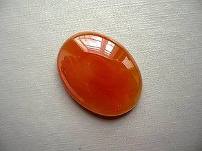 Minerály - Kabošon - achát oranžový 27 mm, č.18f - 10667518_