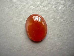 Minerály - Kabošon - achát oranžový 21 mm, č.20f - 10667530_