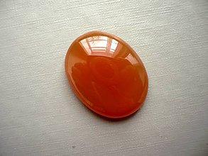 Minerály - Kabošon - achát oranžový 26 mm, č.21f - 10667534_