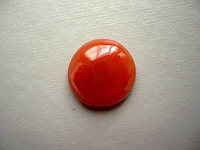 Minerály - Kabošon - achát oranžový 20 mm, č.23f - 10667558_