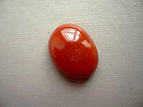 Minerály - Kabošon - achát oranžový 22 mm, č.25f - 10667570_