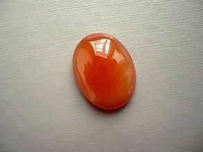 Minerály - Kabošon - achát oranžový 24 mm, č.27f - 10667579_