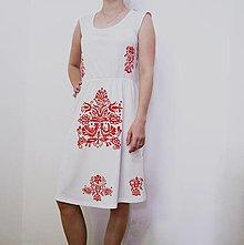 Šaty - Dámske šaty s ručnou maľbou veľ. S - 10667134_