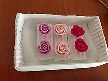 Náušnice - Mini Ruže - 10664513_