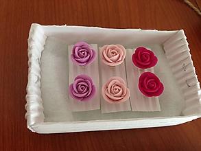 Náušnice - Mini Ruže (biele) - 10664513_