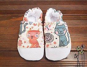 Topánočky - Capačky s mačkami - 10666092_
