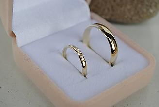 Prstene - Obrúčky s briliantmi - 10668890_