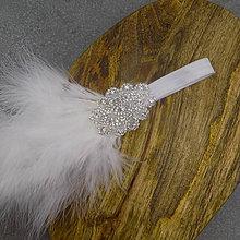 Ozdoby do vlasov - Great Gatsby White mini ... čelenka - 10668616_