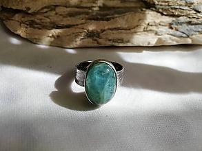Prstene - Akvamarín, prsteň strieborný - 10667908_