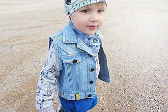 Detské oblečenie - Detská riflová vesta UP - 10671021_