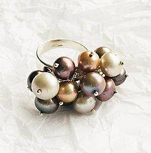 Prstene - nastaviteľný strieborný prsteň s riečnymi perlami, Ag 925 - 10668823_