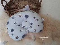 Textil - Anatomický kojenecký vankúšik - sivá vafle/100% bavlna - 10669861_