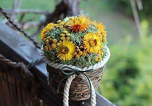 Dekorácie - Aranžmán zo sušených kvetov - 10670265_