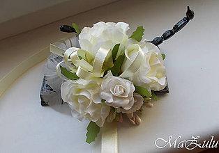 Náramky - svadobný náramok v maslovom - 10668142_