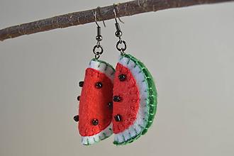 Náušnice - Ovocné náušnice - záhradná zmes (melóny) - 10670342_