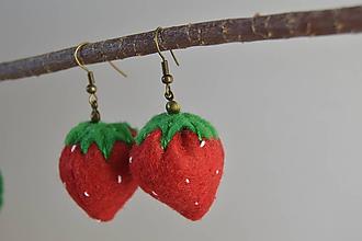 Náušnice - Ovocné náušnice - záhradná zmes (jahody) - 10670348_