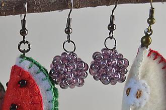 Náušnice - Ovocné náušnice - záhradná zmes (černice) - 10670366_