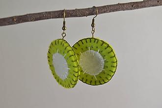 Náušnice - Ovocné náušnice - exotické plody (kiwi) - 10670419_