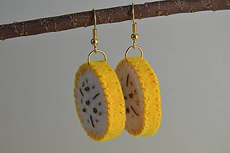 Náušnice - Ovocné náušnice - exotické plody (banány) - 10670424_