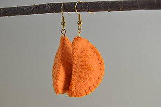Náušnice - Ovocné náušnice - exotické plody (mandarinky) - 10670428_