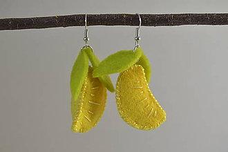 Náušnice - Ovocné náušnice - exotické plody (citróny) - 10670433_
