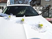 """Dekorácie - výzdoba svadobného auta """"Zelenobílá sada"""" - 10670871_"""