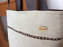 Nákupné tašky - ľanová taška stužka - 10669497_