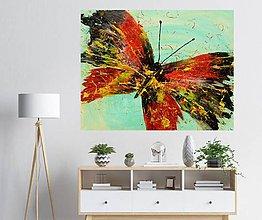 Obrazy - motýľ na plátne - 10670031_