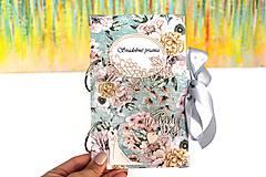 Papiernictvo - Kvetinový obal na svadobné blahoželania  - 10669301_